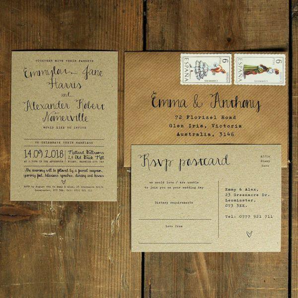 los sobres ms originales para tus de boda maravillas en papel image