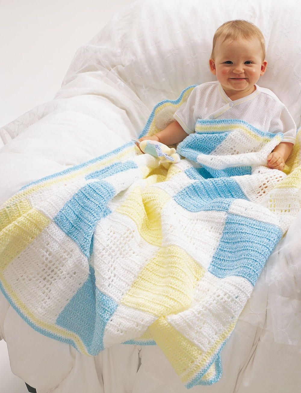 Baby Block Crochet Blanket | Blanco y Bebe