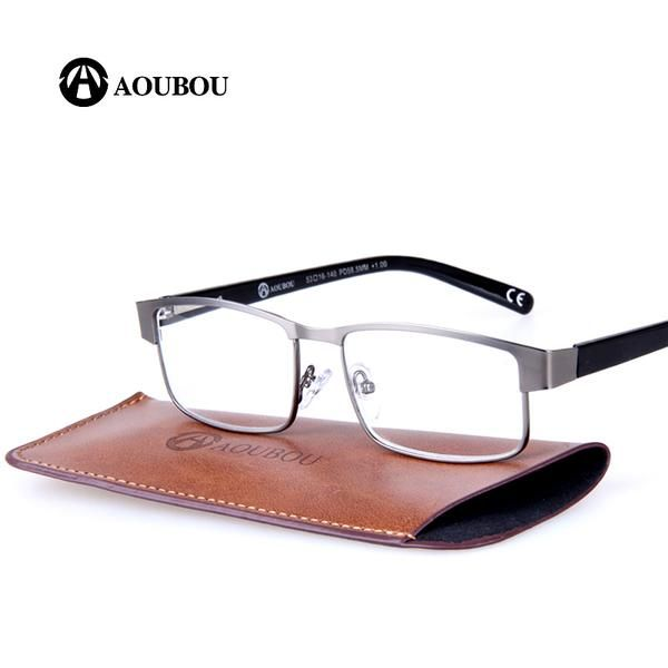 08ccb55f4ac AOUBOU Brand Unisex Reading Glasses PD58.5mm Square Stainless Steel A106   Discounts  BestPrice