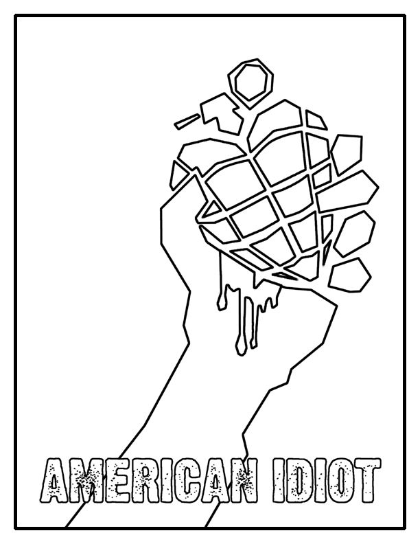 American Idiot Coloring Page by kelly42fox.deviantart.com on ...