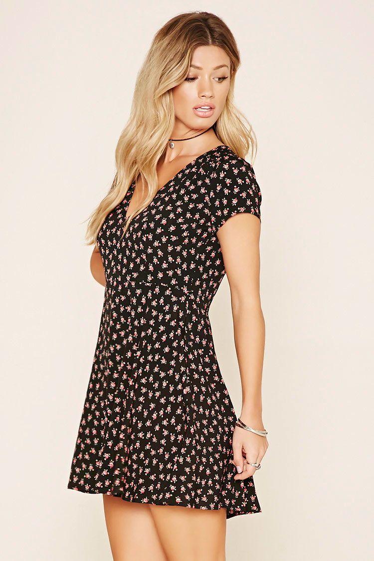 floral print mini dress | minikleid, kleider, coole kleider