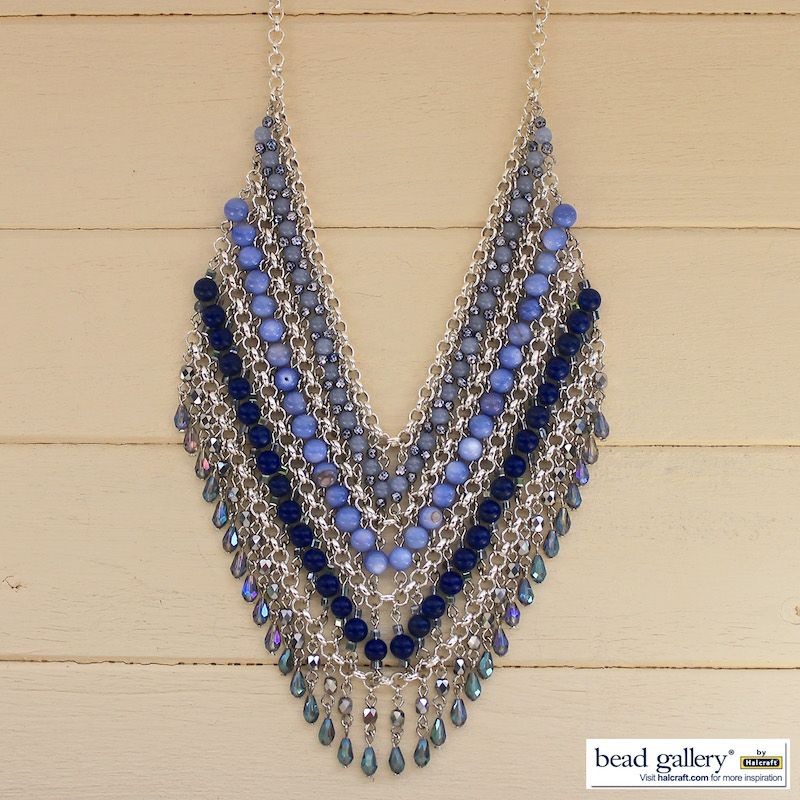 DIY Blue Jeans Necklace made with Bead Gallery beads from ...