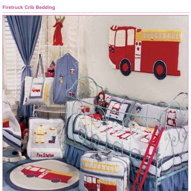 For My Future Mini Fire Fighter One Day Transitional Decor Baby Bed Crib Bedding Boy