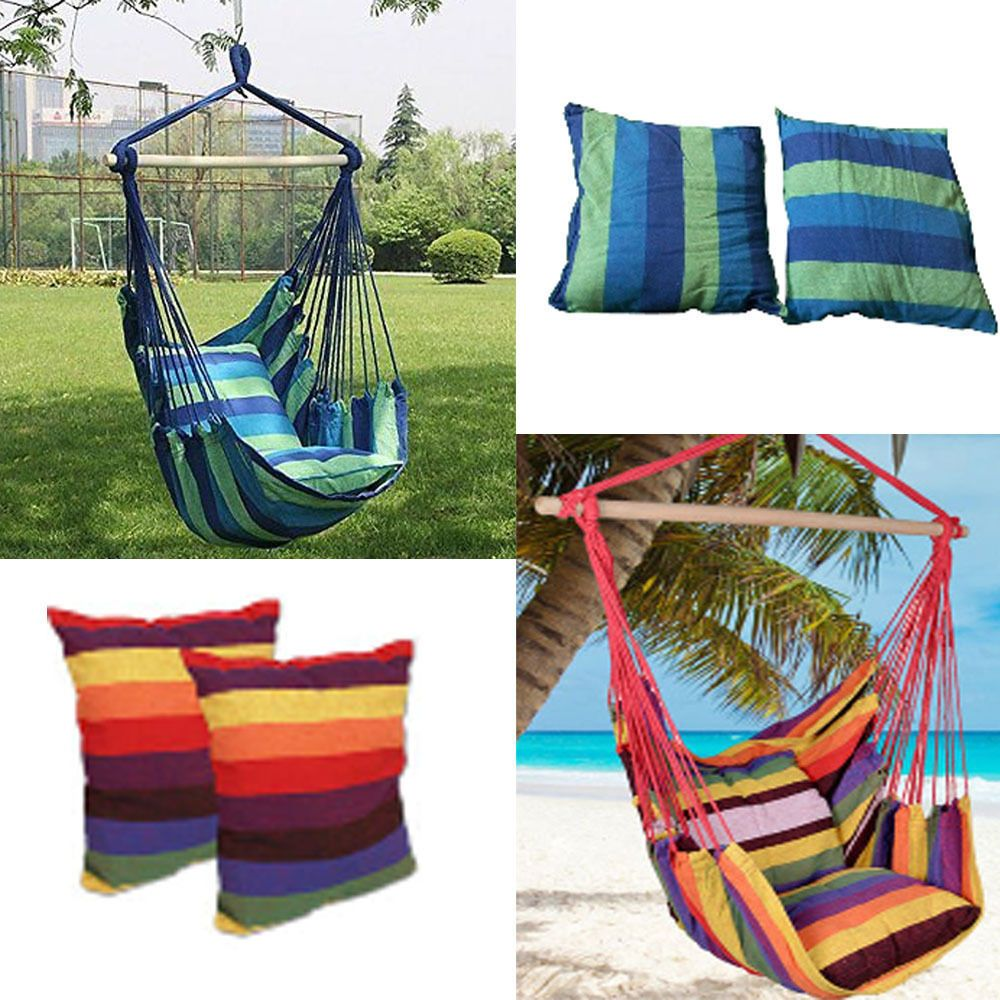 Hammock Hanging Rope Chair Porch Swing Seat Outdoor