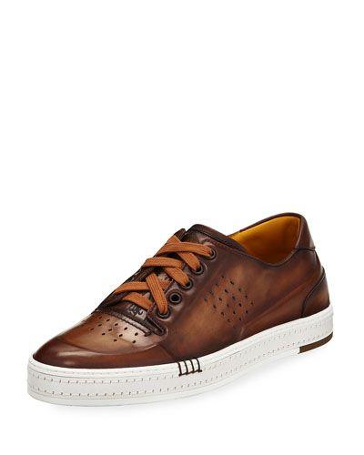 Playtime Leather Sneakers - BlackBerluti JSR0B6KfvA
