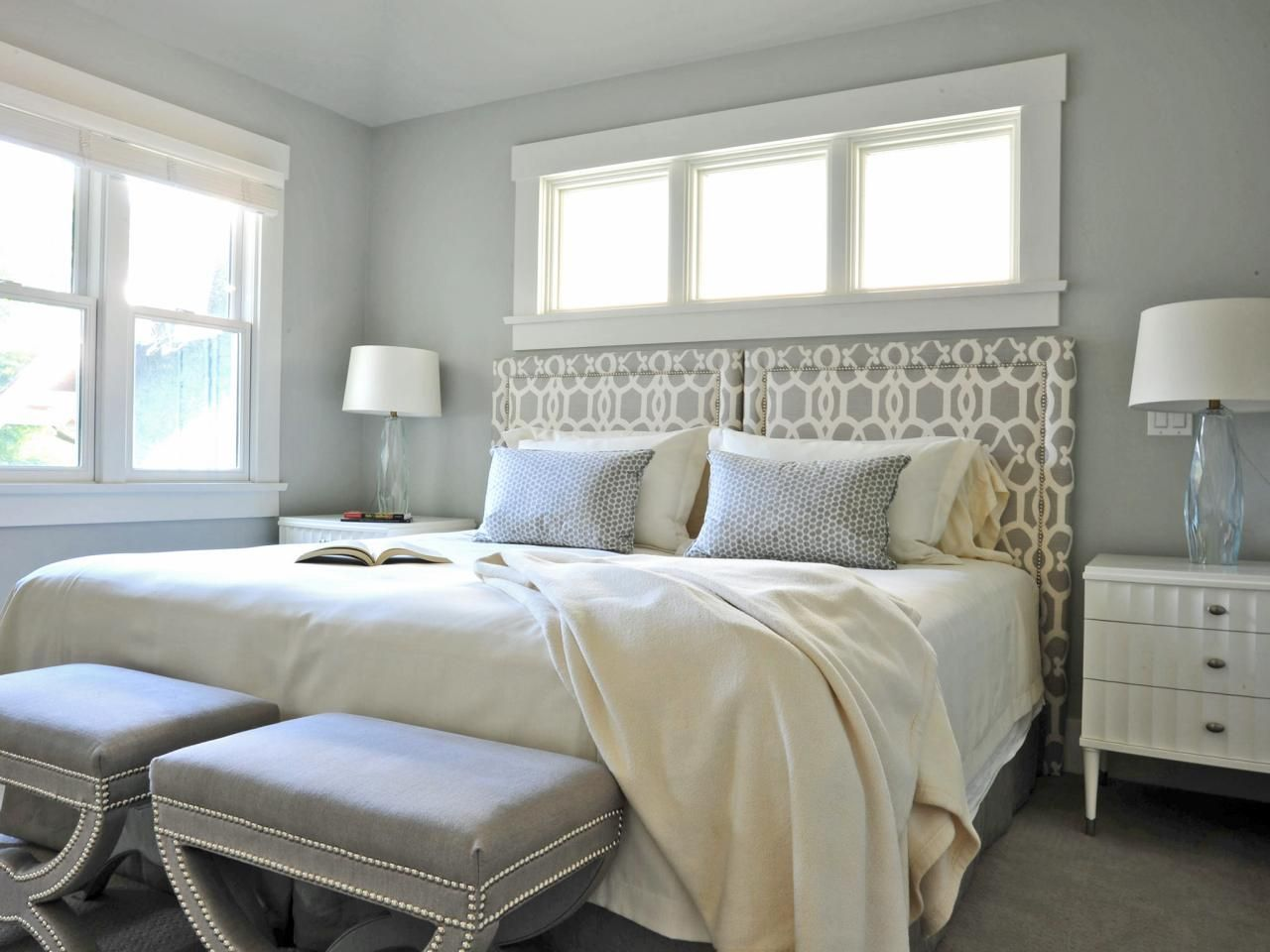 beautiful bedrooms: 15 shades of gray | empty, gray bedroom and