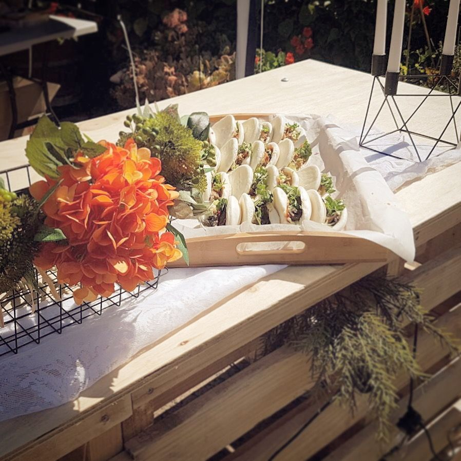 Baos with our catering station food catering perth food catering