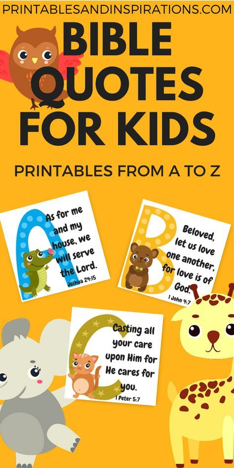 Free Printable Alphabet Memory Verses For Kids! (Bible Quotes
