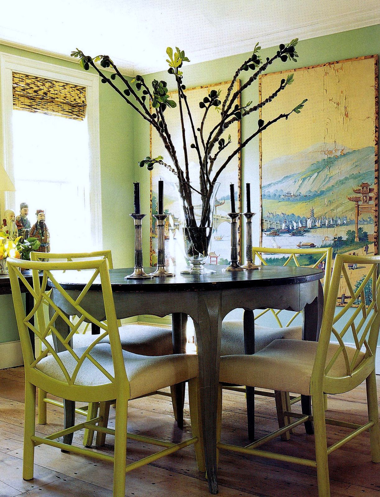 The Green Room Interiors Chattanooga TN Painted Dining Chairs