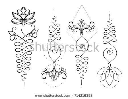 Pin De Mariuxi Carriel En Blusas Unalome Tattoo Hindu Tattoos Y