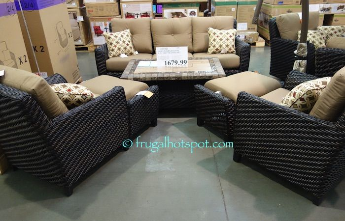 Agio International 6 Piece Woven Seating Group. #Costco #FrugalHotspot