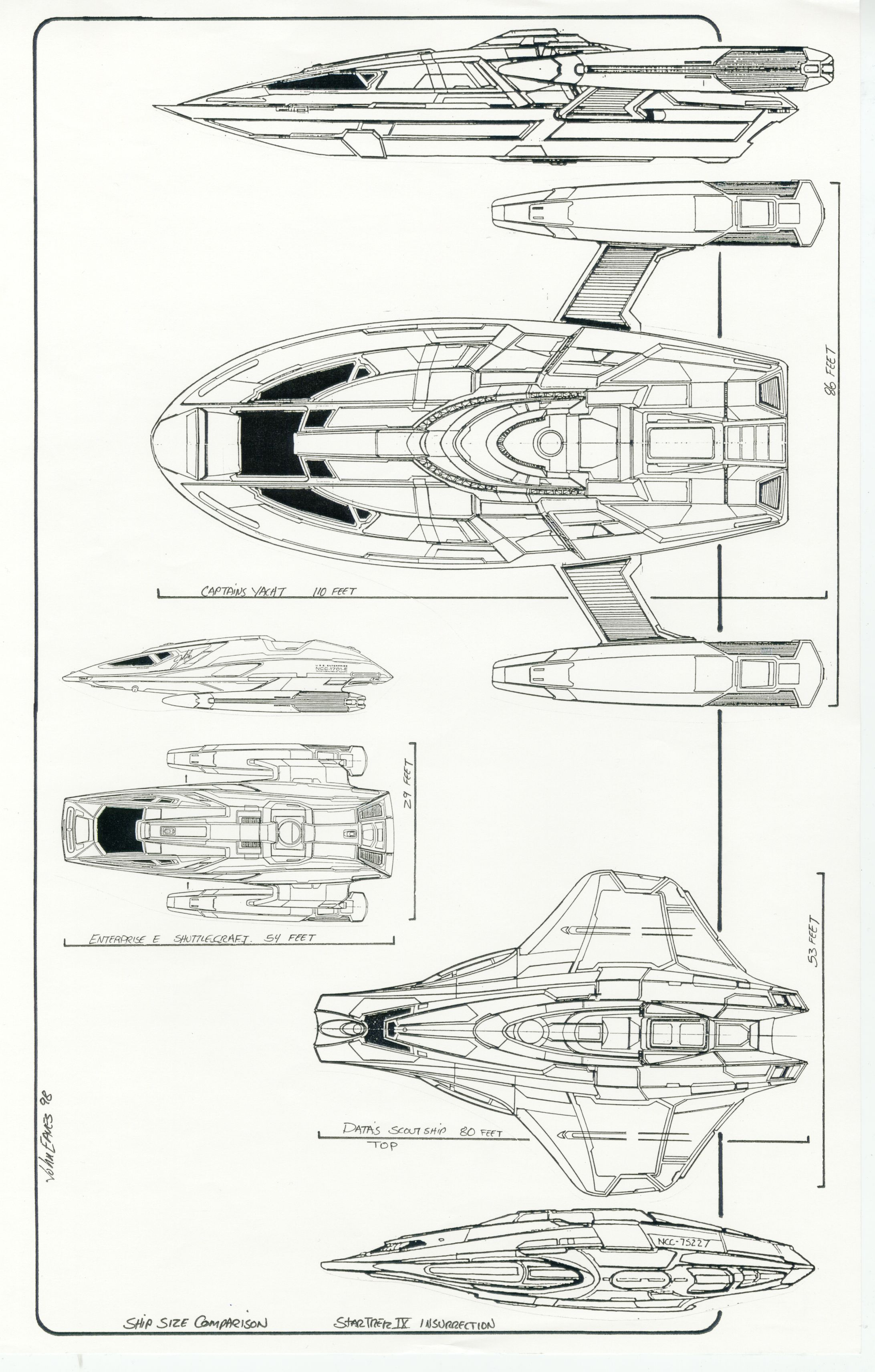 Multiple Elevations Of Captain S Yacht From U S S
