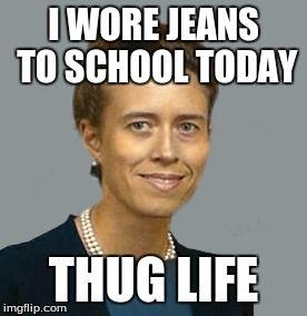 Teacher Thug Life I Wore Jeans To School Today Teachers