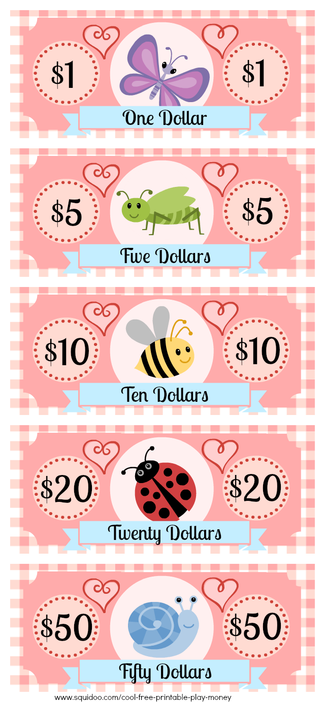 Free Printable Play Money Kids Will Love | Kaufladen, Kinder ...