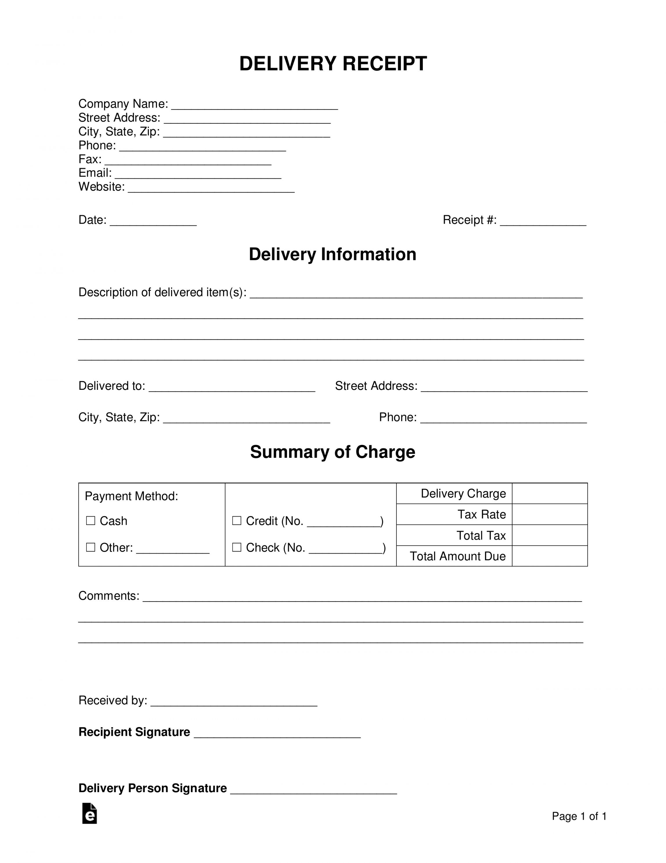 Browse Our Free Sign Receipt Template Receipt Template Word Template Invoice Template
