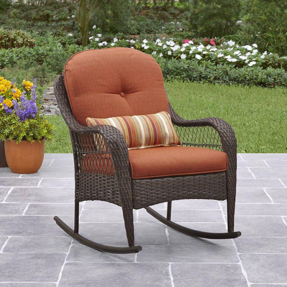 Enjoyable Details About Outdoor Wicker Rocking Chair Porch Deck Rocker Andrewgaddart Wooden Chair Designs For Living Room Andrewgaddartcom