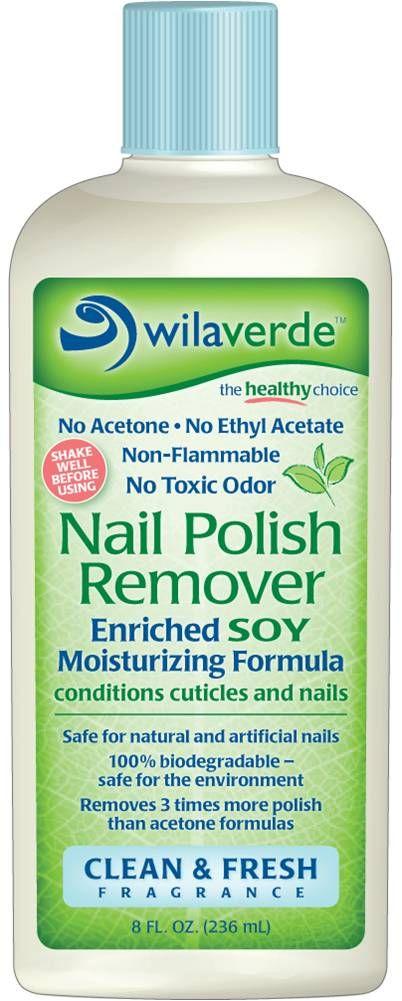 Nail Polish Remover - Wilaverde 100% Biodegradable - No Acetone Non ...