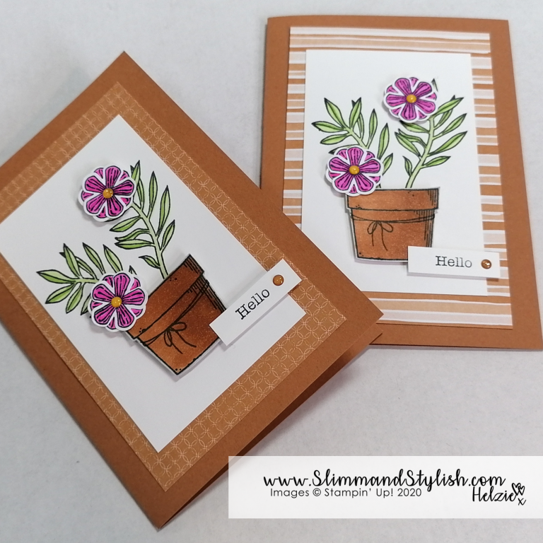 New In Colour Flower Pot Feat Stampin Up Basket Of Blooms Slimm And Stylish Handmade Cards Stampin Up Stampin Up Cards Handmade