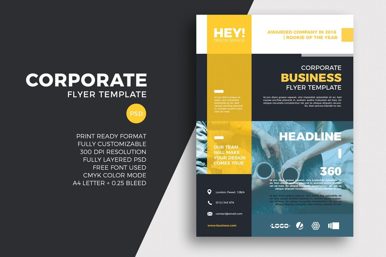 Corporate Flyer Template Psd A4 A3 Unlimiteddownloads