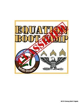 Equation Boot Camp -- Differentiated Equation Solving