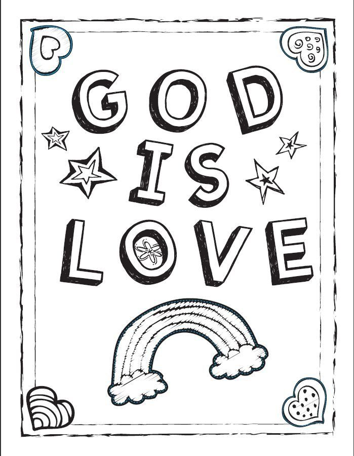 God is Love coloring sheet Valentineu0027s Day Pinterest Sunday - new fall coloring pages for church