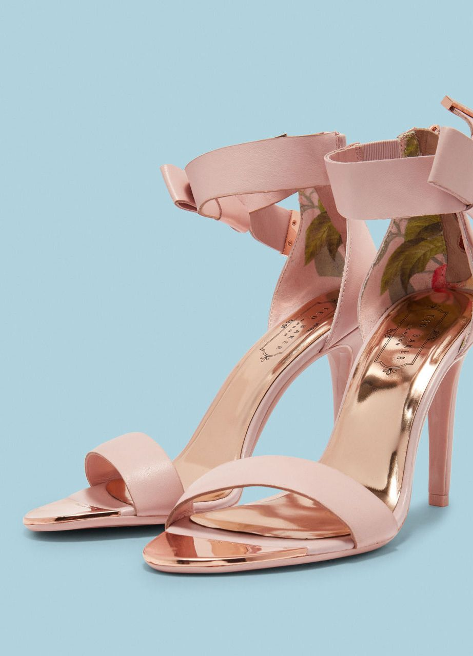 Tie The Knot Elevate Your Wedding Guest Outfit With Ted S Bow Leather Sandals Wedwithted Footwear Design Women