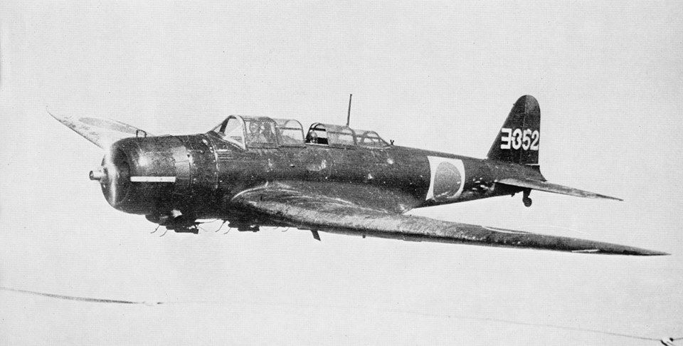 Nakajima B5N2 type 97 carrier attack bomber.