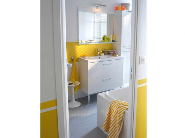 Salle de bains jaune castorama | SdB jaune/fun | Pinterest