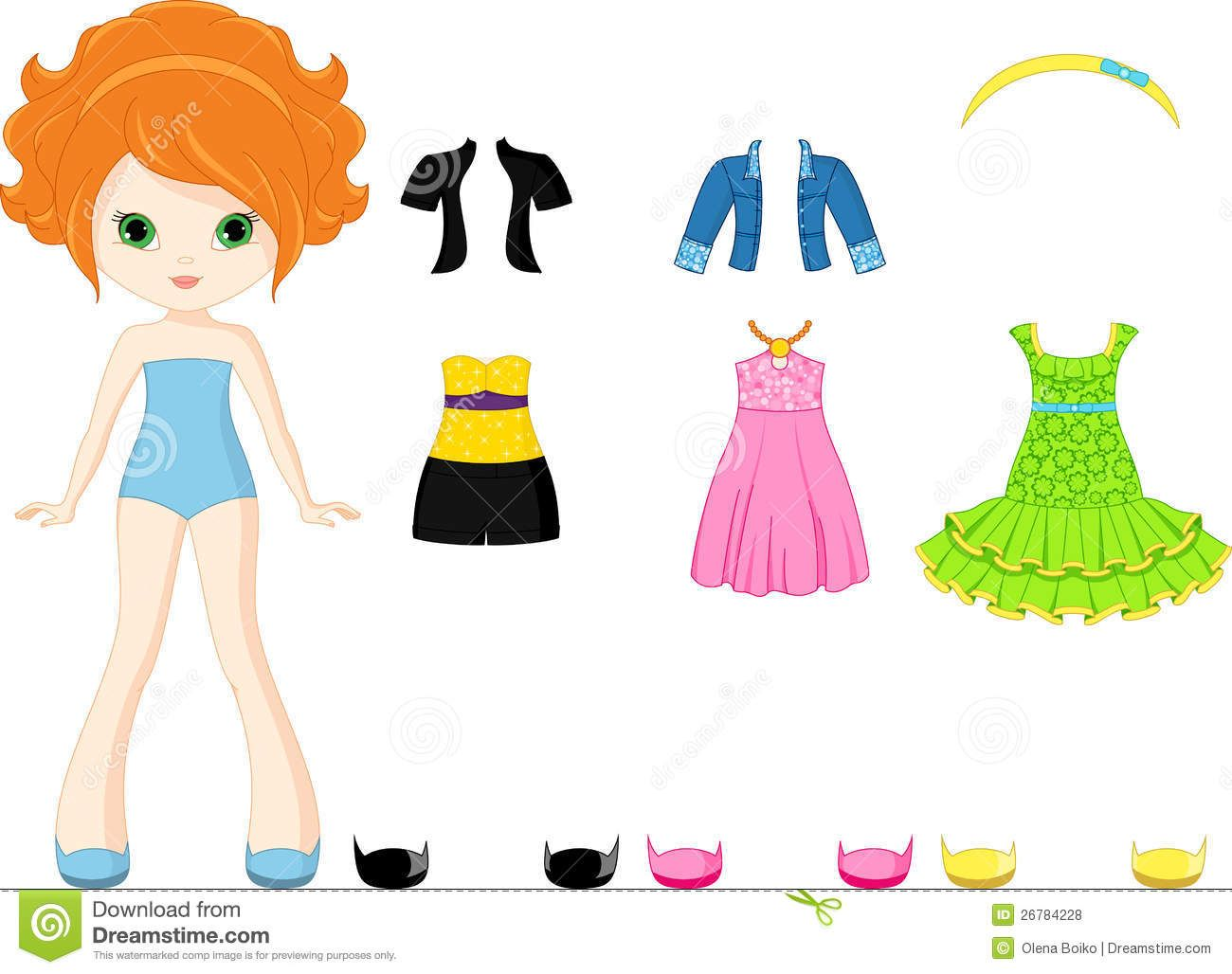 Paper Doll And Every Day Clothes Olena Boiko