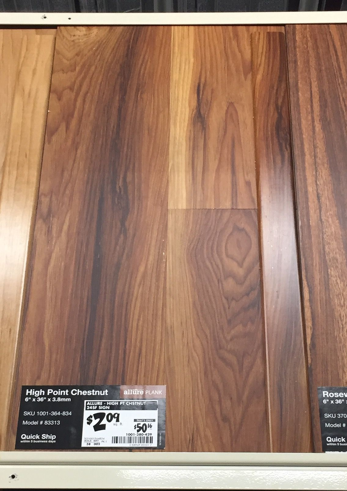 2 09 Sq Ft Home Depot High Point Chestnut Allure Gripstrip