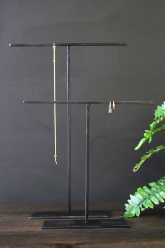 Black Metal Jewellery Stands Set Of Two