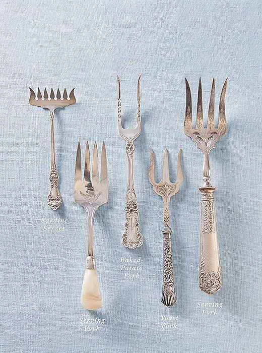 Take A Look! Unique Sterling Silver Pitchfork /& TeaKettle Souvenir Fork