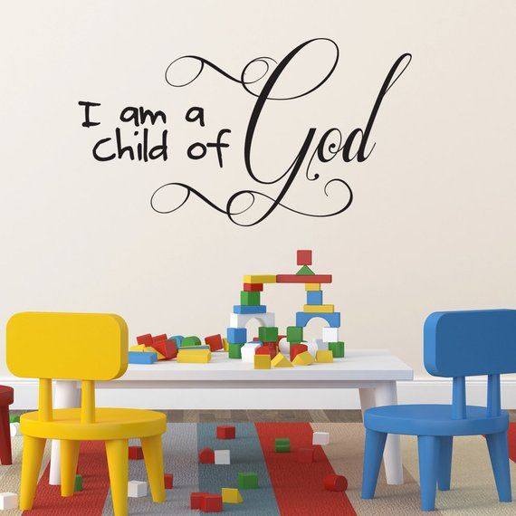 Best Place To Buy Wall Art.I Am A Child Of God Children S Room Christian Wall Art
