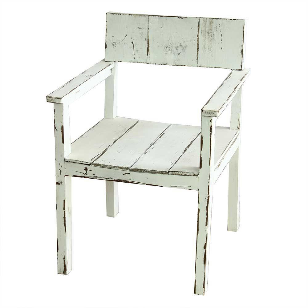 Stuhl Set in Weiß Tanne Massivholz (2er Set) Jetzt bestellen unter ...