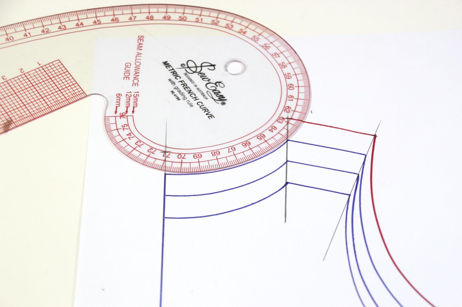 Cómo aumentar o disminuir tallas en los patrones. Clases de costura ...