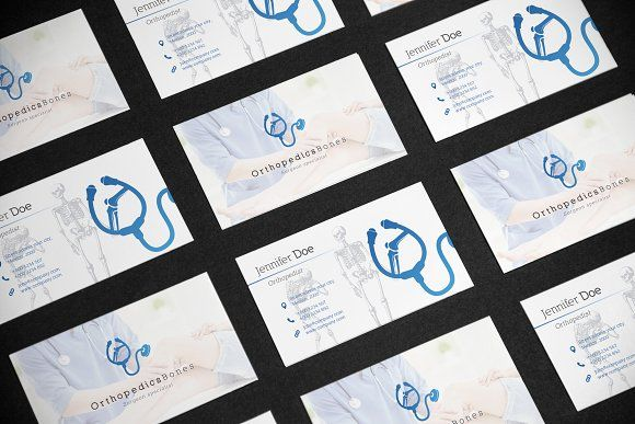 Business Card Medical Orthopedist By Gcreativa On Creativemarket