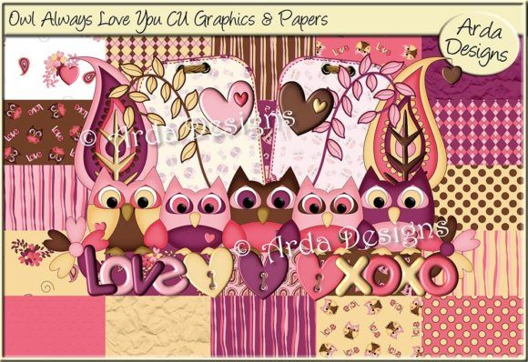 Download Owl Always Love You! CU Graphics Kit (Graphic) by Arda ...