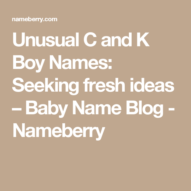 15++ Odd male names that start with k ideas