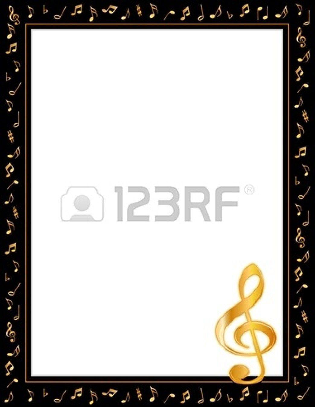 Music Entertainment Poster Frame, schwarzer Rand, Gold Noten ...