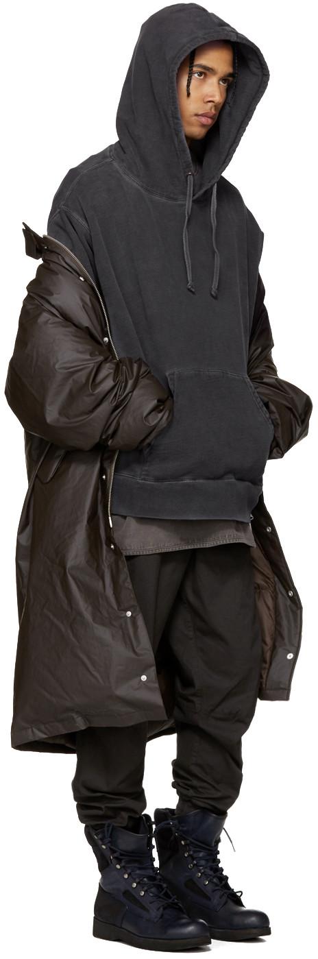 YEEZY Season 3 - Grey Relaxed-Fit Hoodie