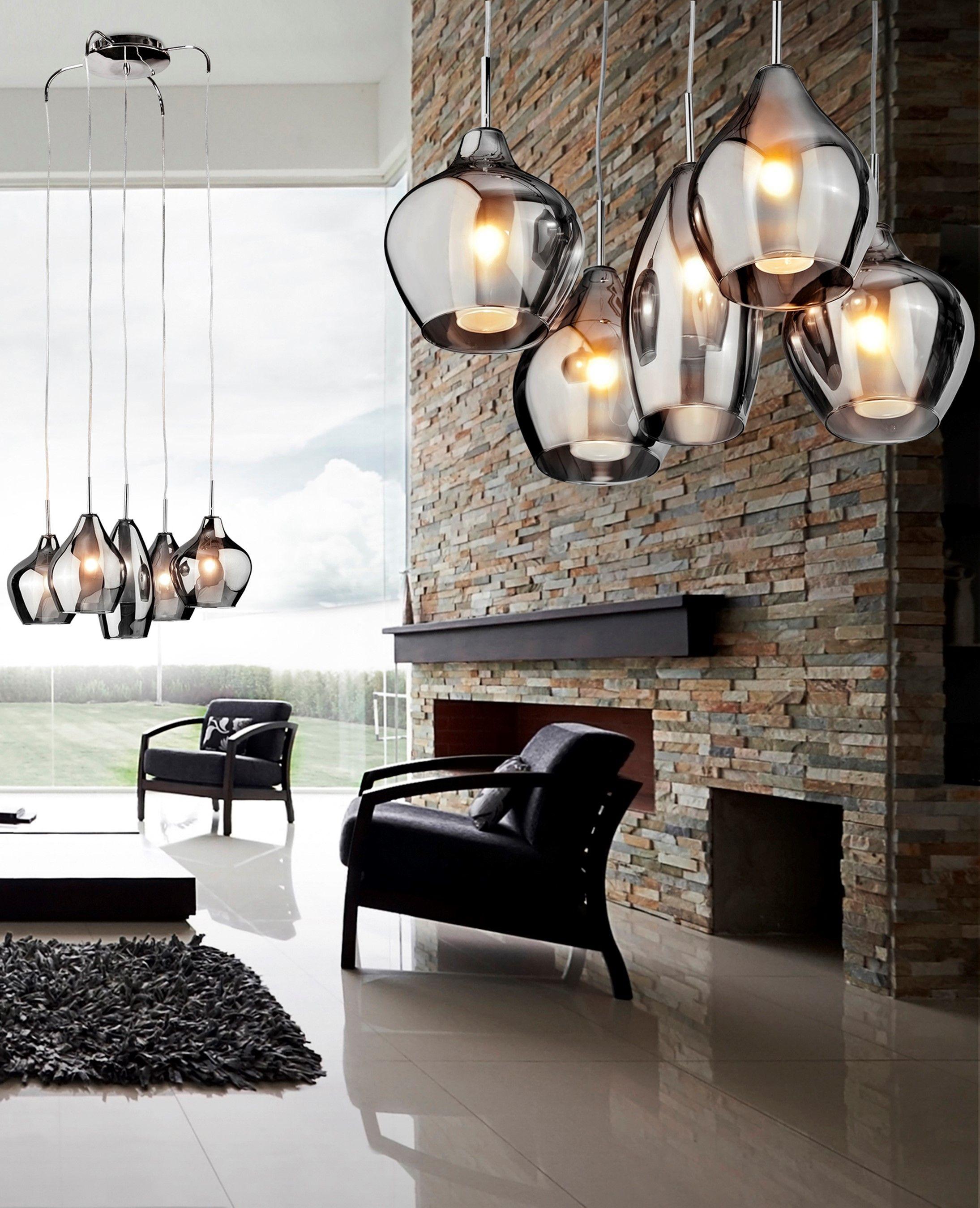 Moderne Glas Lampe | Lampen wohnzimmer, Hängeleuchte