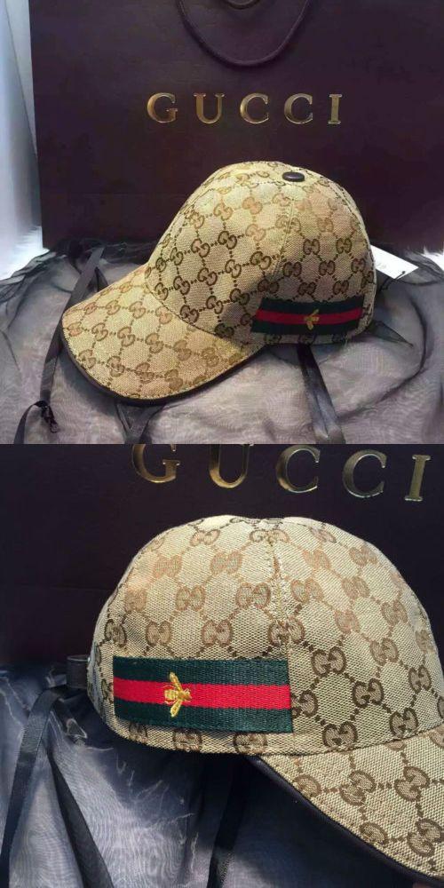 ... Hats 52365 New Gucci Baseball Cap Print Logo Gg Bee Men S Classic Cap  Authentic new ... 2c02137fbbb4