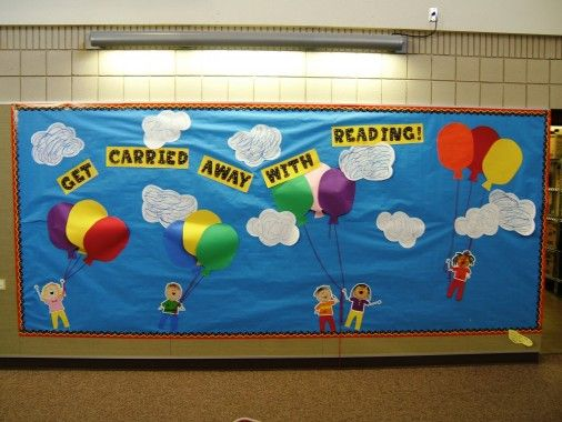 "Bulletin boards about books or reading | ... reading at Dorothy Fox. The theme is ""Get Carried Away with A Book"