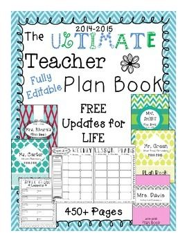 The Ultimate Teacher Plan Book {Editable} - FREE Plan Book