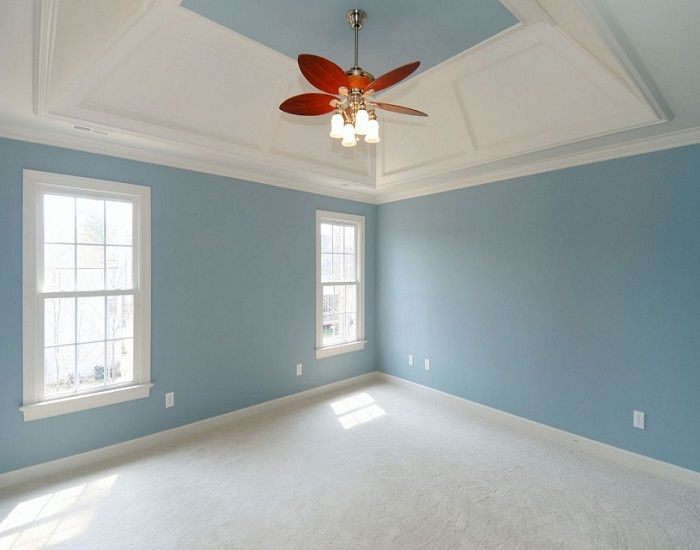 Best white blue interior paint color combinations ideas for Carpet and paint color combinations