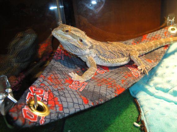 bearded dragon hammock lounge bed walking dead by sewfunforyou bearded dragon hammock lounge bed walking dead by sewfunforyou      rh   pinterest co uk