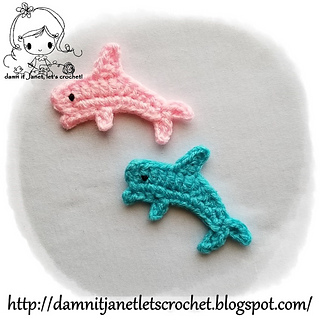 Ravelry: Dolphin Applique pattern by Janet Carrillo in ...