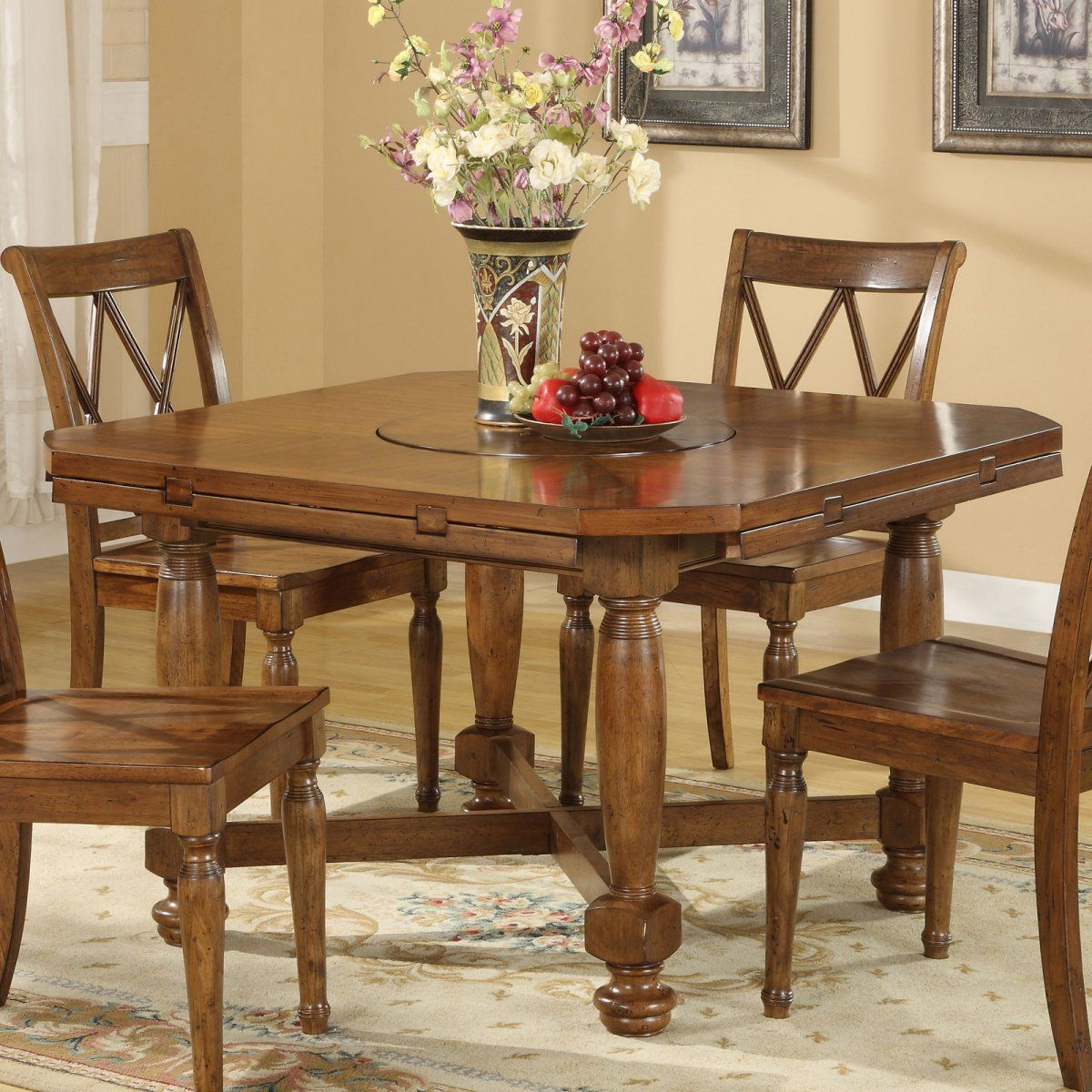 Home Decor Dining Table: *kitchen Table Riverside DelCastle Round/Square Convert-A