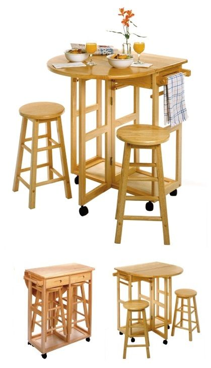 Mobile Kitchen Table Set A Splendid Space Saver This