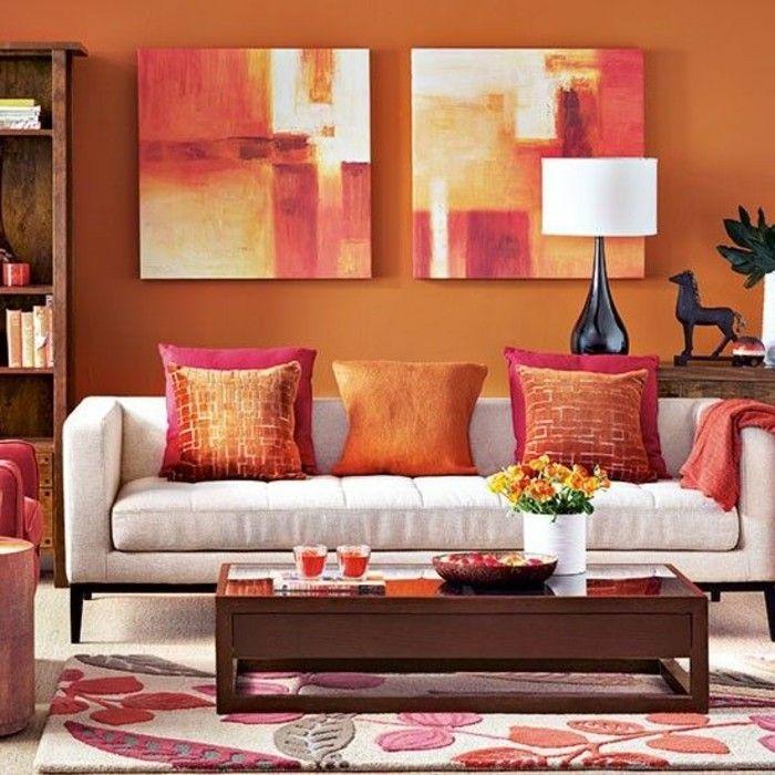 Quelle Couleur Choisir Pour Son Salon Idee Peinture Salon Orange